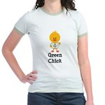 Green Chick Jr. Ringer T-Shirt