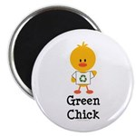 Green Chick Magnet