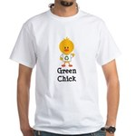 Green Chick White T-Shirt