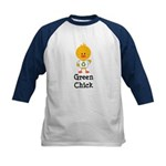 Green Chick Kids Baseball Jersey