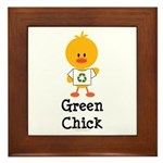 Green Chick Framed Tile