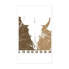 Longhorn Graphic Rectangle Decal