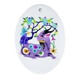 Oval Ornament Purple Pater Cut Goat