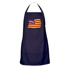 Balearic Islands Flag 2 Apron (dark)