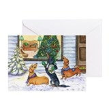 Caroling Dachshunds Christmas Card
