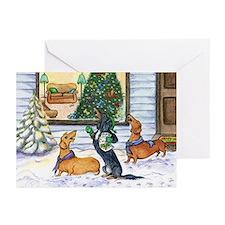 Caroling Dachshunds Christmas Cards (20)