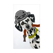 Dalmatian Firefighter Rectangle Sticker 10 pk)