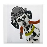 Dalmatian Firefighter Tile Coaster