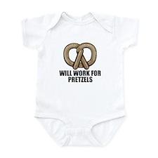 Will work for pretzels Infant Bodysuit