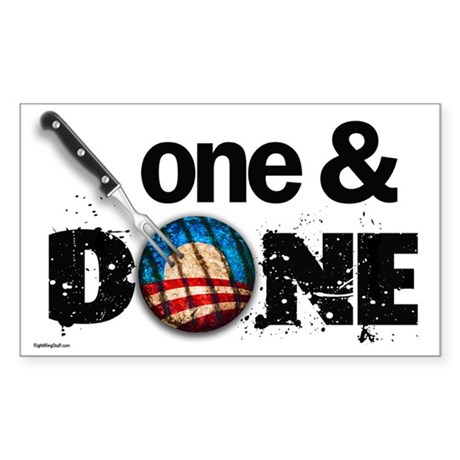 One & DONE Rectangle Sticker 50 pk)