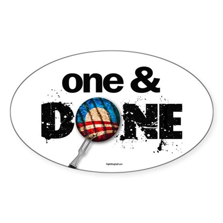 One & DONE Oval Sticker