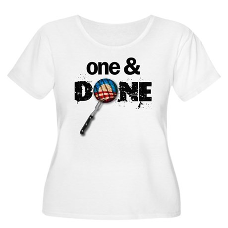 One & DONE Women's Plus Size Scoop Neck T-Shirt