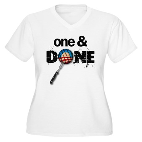 One & DONE Women's Plus Size V-Neck T-Shirt