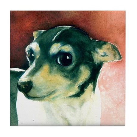 Classic Rat Terrier Tile Coaster