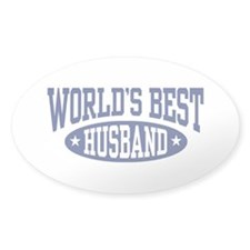 World's Best Husband Oval Decal