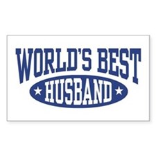 World's Best Husband Rectangle Decal