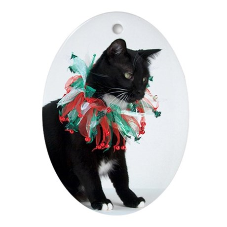 Black Cat Christmas Ornament