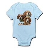 3 Beagles Onesie