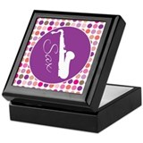 Mod Retro Saxophone Keepsake Box