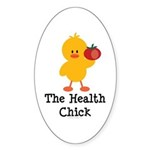 The Health Chick Oval Sticker (10 pk)