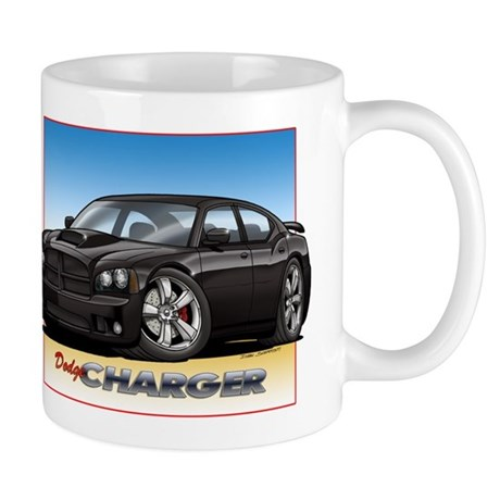 Black Dodge Charger Mug
