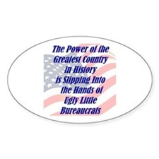 Ugly Little Bureaucrats Oval Decal