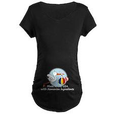 Stork Baby Romania USA T-Shirt