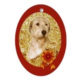 Irish Wolfhound Christmas Oval Ornament G/R