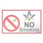 No Smoking Masonic Rectangle Sticker 10 pk)
