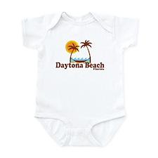 Daytona Beach FL - Sun and Palm Trees Design Infan