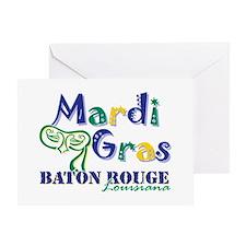Mardi Gras Baton Rouge Greeting Card