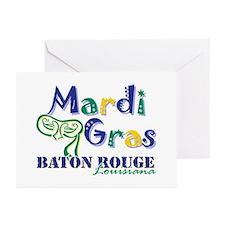 Mardi Gras Baton Rouge Greeting Cards (Pk of 20)
