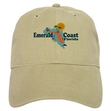 Emerald Coast FL - Map Design Baseball Cap