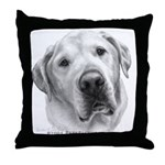 Max, Lab-Bull Terrier Mix Throw Pillow