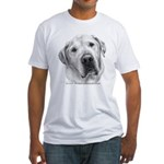 Max, Lab-Bull Terrier Mix Fitted T-Shirt