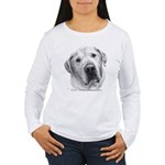 Max, Lab-Bull Terrier Mix Women's Long Sleeve T-Sh