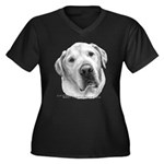 Max, Lab-Bull Terrier Mix Women's Plus Size V-Neck