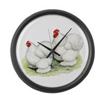 Cochins White Pair Large Wall Clock