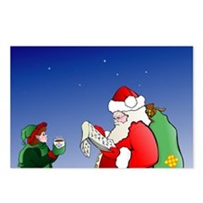 Santa Checking his list Postcards (Package of 8)