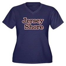 Jersey Shore Red Women's Plus Size V-Neck Dark T-S