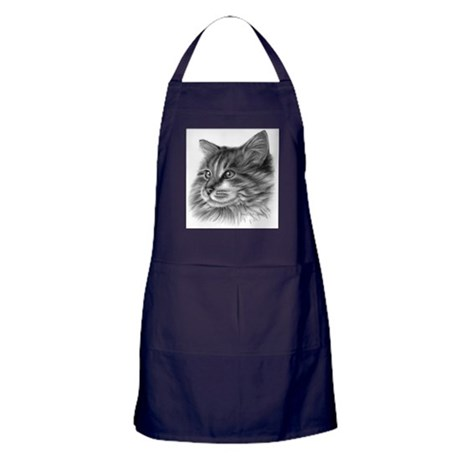 Maine Coon Cat Apron (dark)