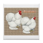 Bantam Cochins Tile Coaster