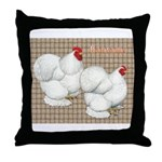 Bantam Cochins Throw Pillow