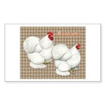 Bantam Cochins Rectangle Sticker 50 pk)