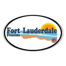 Fort Lauderdale FL - Beach Design Decal