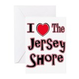 I love the jersey shore red Greeting Cards (Pk of