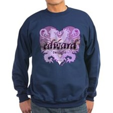 Edward Lion Ribbon Crest Heart Sweatshirt