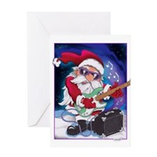 Rockin' Santa Christmas Greeting Card