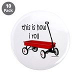 "LITTLE RED WAGON 3.5"" Button (10 pack)"