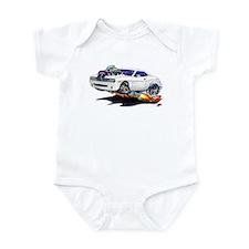Challenger White Car Infant Bodysuit
